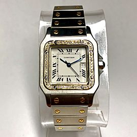 CARTIER SANTOS GALBEE Date Automatic 18K Yellow Gold & Steel Diamonds Men's/Unisex Watch
