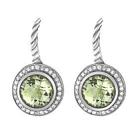 David Yurman Peridot and Diamond Earrings