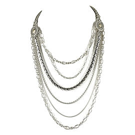 John Hardy 925 Sterling Silver Classic Chain 6-Row Mixed Chain Necklace