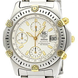 TAG HEUER Stainless steel Chronograph Gold Plated Watch HK-2024