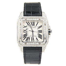 Cartier Santos 100 XL 2656 Stainless Steel and Diamond 38mm Automatic Mens Watch