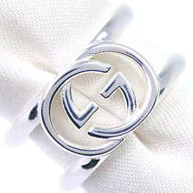 GUCCI 925 Silver Interlocking G Ring NST-1099