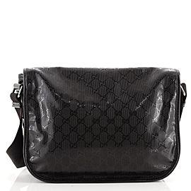 Gucci Double Buckle Messenger Bag GG Imprime Medium