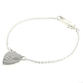 GUCCI 925 silver Trademark Heart bracelet
