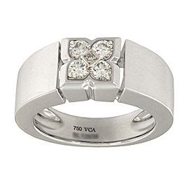 Van Cleef & Arpels Gold 18K White Gold with 0.5ct. Diamonds Ring Size 7