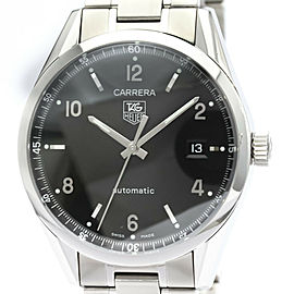 Polished TAG HEUER Carrera Calibre 5 Steel Automatic Mens Watch WV211B