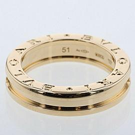 BVLGARI 18K Yellow Gold Be Zero One XS EU51 Ring TBRK-255