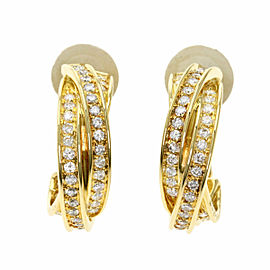 CARTIER Diamond 18k Yellow Gold Trinity Earring