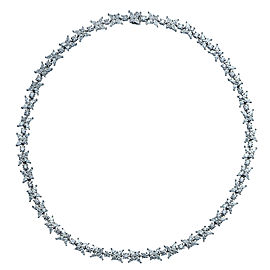Tiffany & Co. Victoria Platinum with 20ct Diamond Cluster Necklace