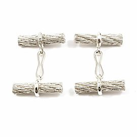 Hermes Sterling Silver Rope Men's Cufflinks CHAT-559