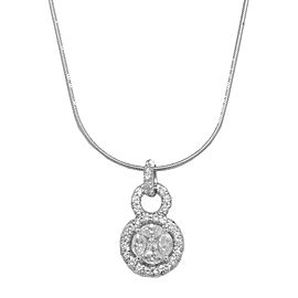 Jude Frances Diamond Pendant 18K White Gold Diamond Necklace