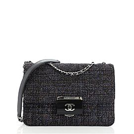 Chanel Beauty Lock Flap Bag Quilted Tweed Small