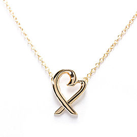 TIFFANY & CO. 18K Pink Gold Loving Heart Necklace