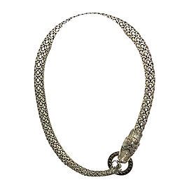 John Hardy 925 Sterling Silver and 18K Yellow Gold Legends Naga Dragon Head Necklace