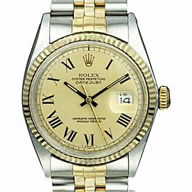 Rolex Datejust 1601 Two-Tone Champagne Dial 36mm Men's Watch