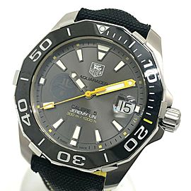 TAG HEUER WAY211F Aqua racer Stainless Steel / ceramic / Nylon belt Caliber 5 Wrist watch
