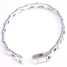 GUCCI Silver G logo Ble Rubbed Bracelet