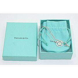 Tiffany & Co. Sterling Silver 1P Diamond Atlas Round Pendant Necklace