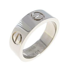 Cartier 18K White Gold Love ring TkM-88