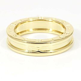 BVLGARI 18K Yellow Gold B-Zero 1 S Band Ring CHAT-8 Brand : BVLGARI Style : Ring Material : 18K Yellow Gold Ring size (approx) : 5.5(USA) / 50.0(EU, actual 51.0) / 10.0(Japan) Width (approx) : 4.8 mm Weight (approx) : 6.7 grams Accessory List: None