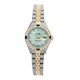 Rolex Datejust Lady Light Blue Diamond Dial and Bezel 26mm Watch