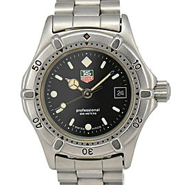 TAG HEUER 2000 962.008-2 Professional 200 black Dial Quartz Ladies Watch