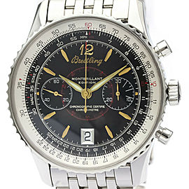 Polished BREITLING Navitimer Montbrillant Edition Steel Watch A48330