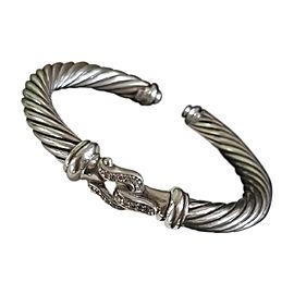 David Yurman 925 Sterling Silver with Diamond Buckle Bracelet