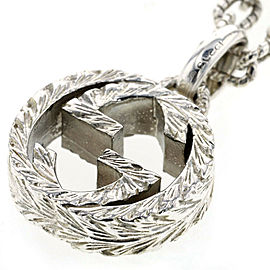 GUCCI Interlocking G 925 Silver Necklace TBRK-284