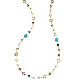 Ippolita Lollitini 18K Yellow Gold Mother Of Pearl, Citrine, Peridot, Amethyst, Topaz, Turquoise, Tourmaline Necklace