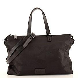 Valentino Convertible Zip Briefcase Camo Nylon Large