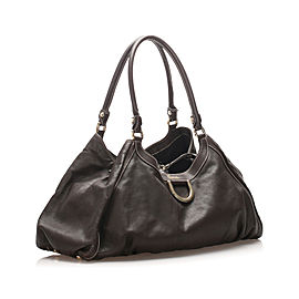 Abbey D-Ring Leather Shoulder Bag