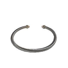 David Yurman 4mm Cable Bracelet with Morganite & 18K Gold