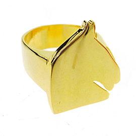 Hermes Gold Tone Hardware Ring Size 5