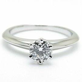 TIFFANY&CO 950 platinum Single Diamond Solitaire ring