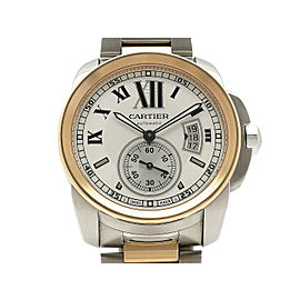 Cartier Calibre De Cartier W7100036 18k Rose Gold/Stainless Steel 42mm Mens Watch