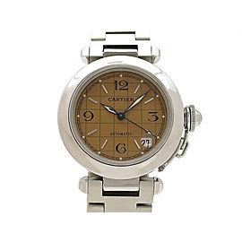 Cartier Pasha C Date W31024M7 35mm Mens Watch