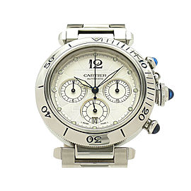 Cartier Pasha38 Chronograph W31030H3 38mm Mens Watch