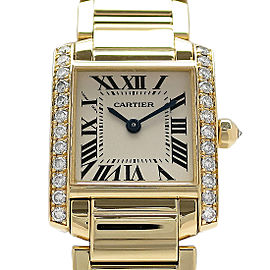 Cartier Tank Francaise WE1001R8 25mm x 20mm Womens Watch