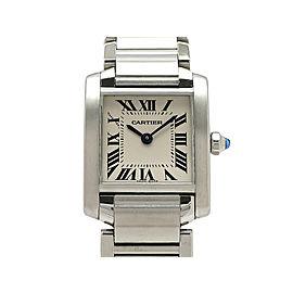 Cartier Tank Francaise W51008Q3 H25mm_W20mm Womens Watch