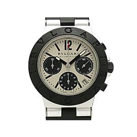 Bulgari Aluminum Chronograph AC38TAVD 38mm Mens Watch