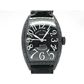 Franck Muller Tonneau Carbex Black Croc 8880SC BLK CRO H47mm_W39.5mm Mens Watch