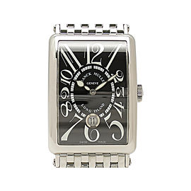Franck Muller Long Island Date 1200SC DT Stainless Steel 45mm x 32.5mm Mens Watch