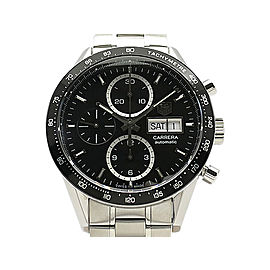 Tag Heuer Carrera Caliber16 Chronograph Day-Date CV201AG Stainless Steel 41mm Mens Watch