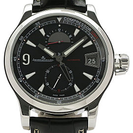 Jaeger-Lecoultre Master Compressor GMT Automatic Q1738171 Leather 41.5mm Mens Watch