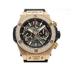 Hublot Big Bang Unico King gold diamond bezel 411.OX.1180.RX.1104 45mm Mens Watch