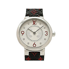 Louis Vuitton Tambour Monogram Q12MG 28mm Womens Watch