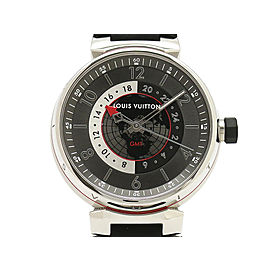 Louis Vuitton Tambour Grafit GMT Q1D30 41mm Mens Watch