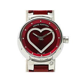 Louis Vuitton Tambour heart diamond Q121Z 28mm Womens Watch