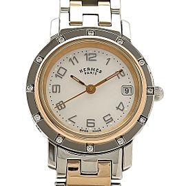 Hermes Clipper Nacre CL4.222 24mm Womens Watch